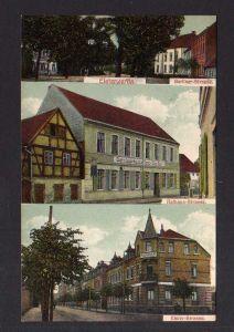 Ansichtskarte Elsterwerda 1912 Berliner Strasse Gasthaus zur Sonne Logirhaus Lichtbad
