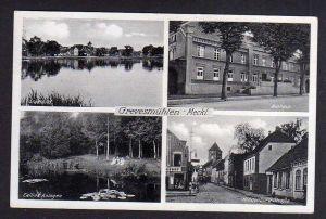 Ansichtskarte Grevesmühlen Meckl. Rathaus Hindenburgstrasse 1944