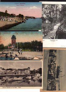 3 Ansichtskarte Vegesack Bremen Strandlust 1912 Schloss Schönebeck 1920 Hafen Weser