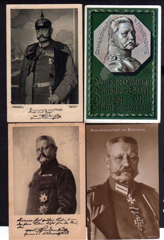 4 Ansichtskarte Generalfeldmarschall Hindenburg 1915