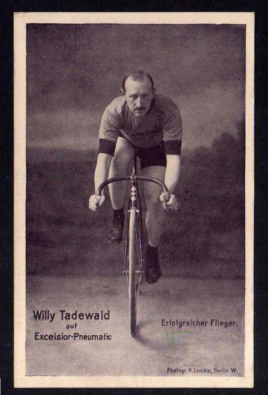 Ansichtskarte Fahrrad Excelsior Tourenreifen Berg Reifen Willy Tadewald Flieger