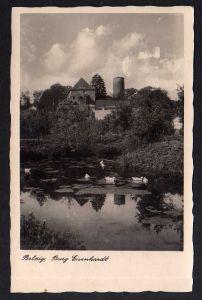 Ansichtskarte Belzig Burg Eisenhardt 1941 Landpoststempel Lüsse passender SST