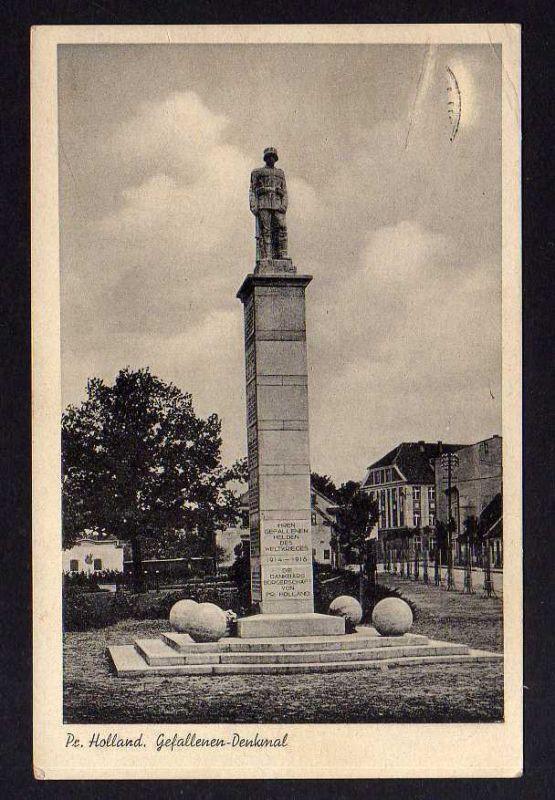 Ansichtskarte Preußisch Holland Ostpreußen Gefallenen Denkmal 1914 - 1918 Feldpost