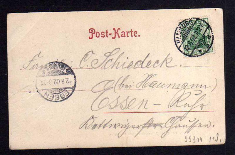 Ansichtskarte hamburg 1902 große johannisstraße adolfsplatz patent