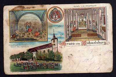 Ansichtskarte Untergrombach Bruchsal Oelberg Michaelsberg 1900