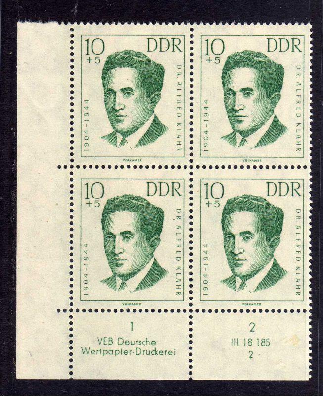 DDR 1962 919 DV Formnummer 3 Druckvermerk ** Antifaschisten 10+5 Pfg.