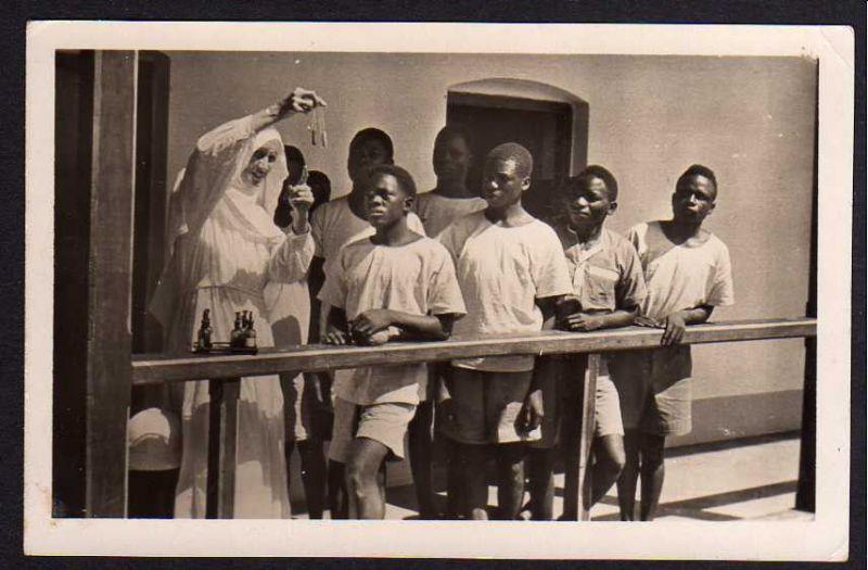 Ansichtskarte Ostafrika Benediktiner Mission NDANDA Lindi