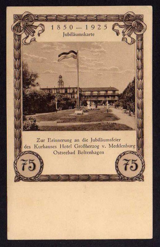 Ansichtskarte Boltenhagen 75 Jahre Kurhaus Hotel Großherzog v. Mecklenburg 1925