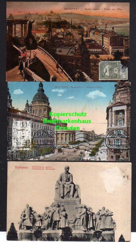 3 Ansichtskarte Budapest 1914 0