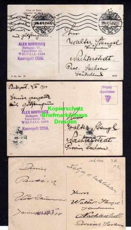 3 Ansichtskarte Budapest 1914 1