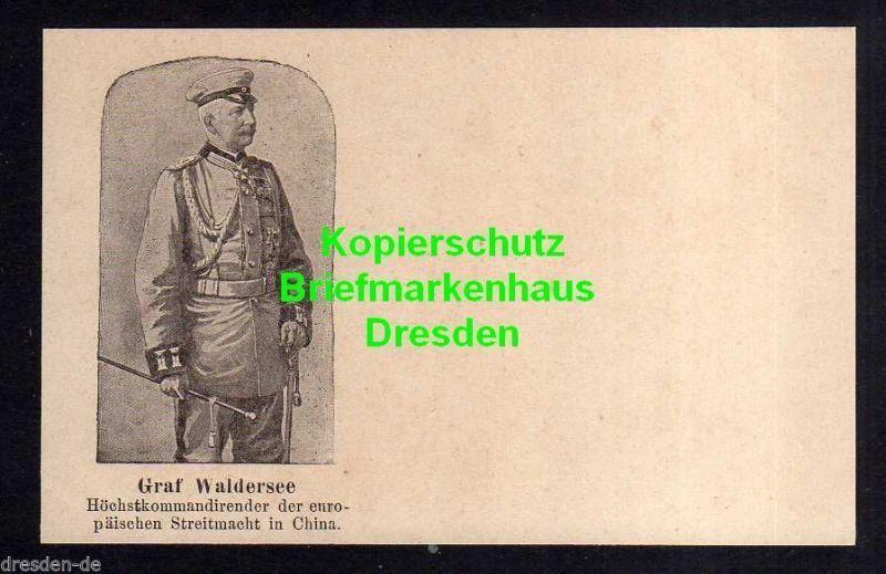Ansichtskarte Graf Waldersee China 1901 Uniform Orden Höchstkommandierenderder europ