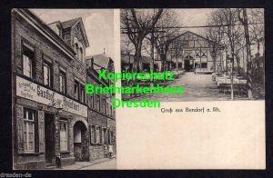 Ansichtskarte Bendorf a. Rh. Gasthof zur Rheinfahrt Gartenwirtschaft Saal Kegelbahn