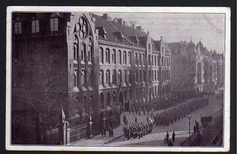Ansichtskarte Hannover Schulkaserne Kestnerstraße 1916
