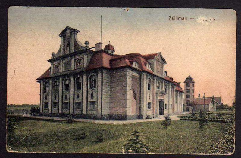 Ansichtskarte Züllichau Sulechow Kaiserhalle