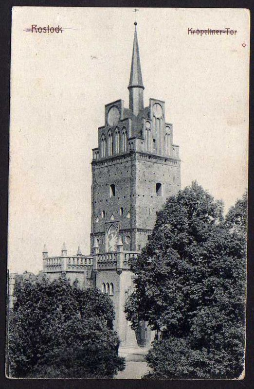 Ansichtskarte Rostock Kröpeliner Tor 1916