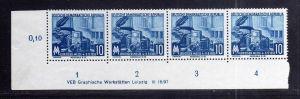 DDR 479 Leipziger Messe 1955 postfrisch DV Druckvermerk Variante Wolf