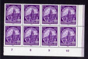 DDR 526 750 Jahre Dresden 1956 postfrisch 8er Block Bogenecke 4