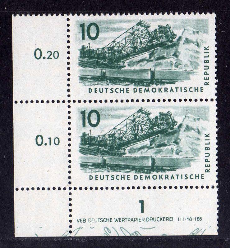 DDR 569 Kohlebergbau 1957 postfrisch Druckvermerk DV
