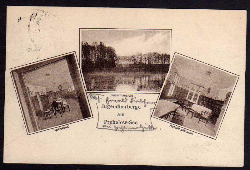 Ansichtskarte Jugendherberge Preblow See Zechlinerhütte 1929