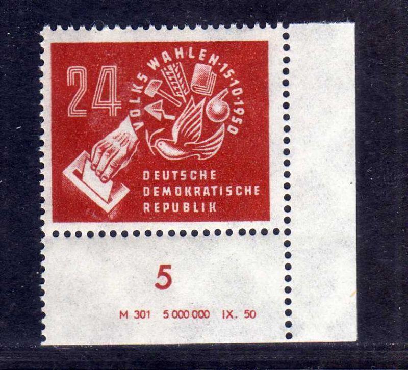 DDR 1950 275 Volkswahlen ** DV ungefalten, nicht angetrennt Variante Wolf b