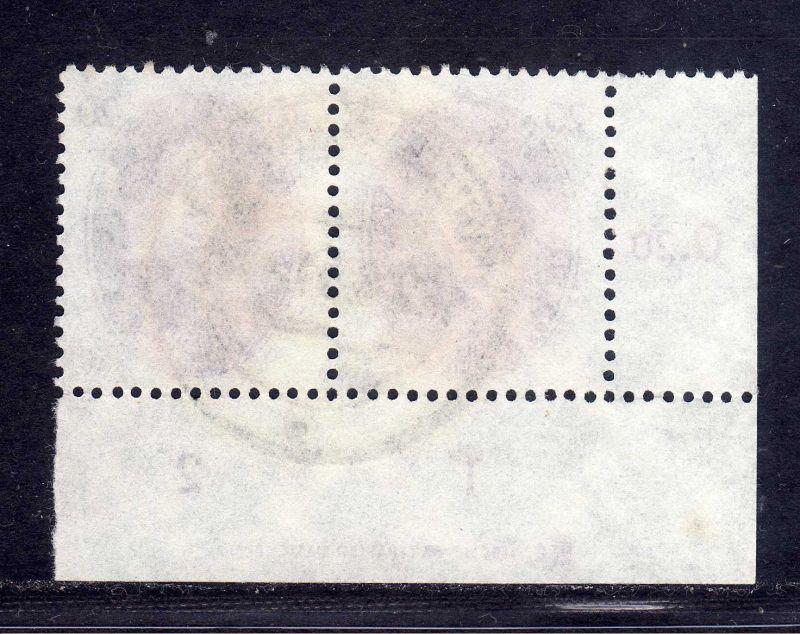 DDR 1950 266 20 Pfg. Akademie Walther Nernst gestempelt DZ Druckereizeichen 1