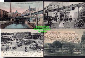 7 Ansichtskarte Berlin Bahnhof Friedrichstraße 1903 Bülowstraße Hallesches Tor 1906