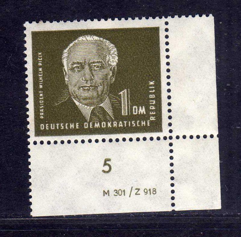 DDR 1950 253a 1.- Pieck ** DV Druckvermerk