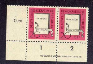 DDR 599 Sparwochen 1957 postfrisch Druckvermerk DV