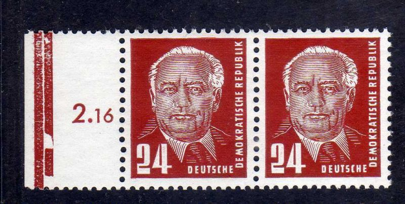 DDR 1952 324 vb YI ** waag. Paar geprüft 0