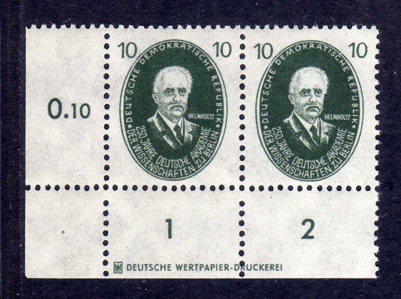 DDR 1950 265 Akademie 10 Pfg. Helmholtz * DZ Druckereizeichen