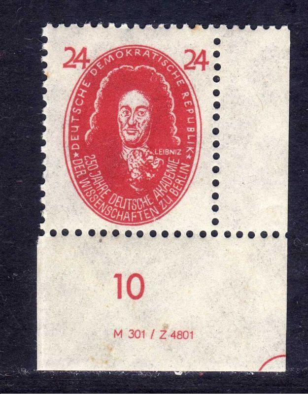 DDR 1950 269 Akademie 12 Pfg. ** Leibniz  DV Druckvermerk