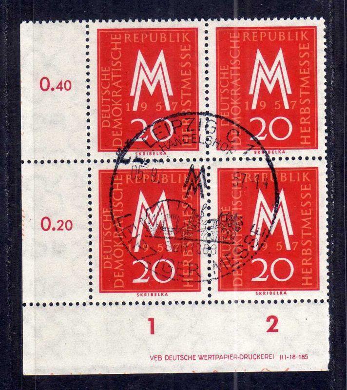 DDR 596 Leipziger Herbstmesse 1957 SST Handelshof Druckvermerk DV