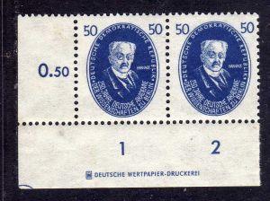 DDR 1950 270 Akademie 50 Pfg. Harnack * DZ Druckereizeichen