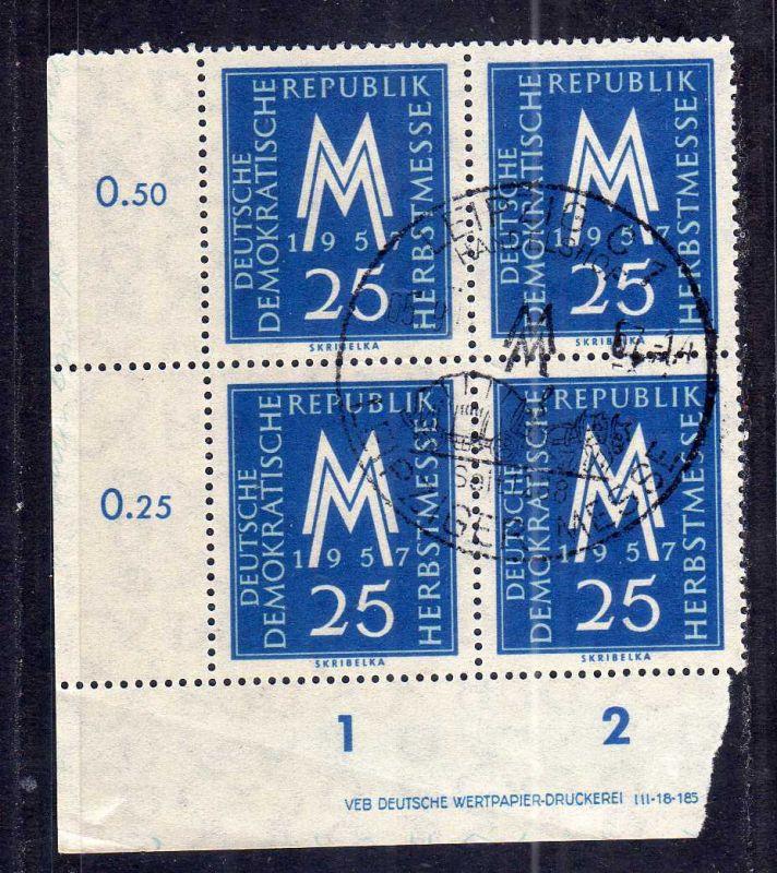 DDR 597 Leipziger Herbstmesse 1957 SST Handelshof Druckvermerk DV