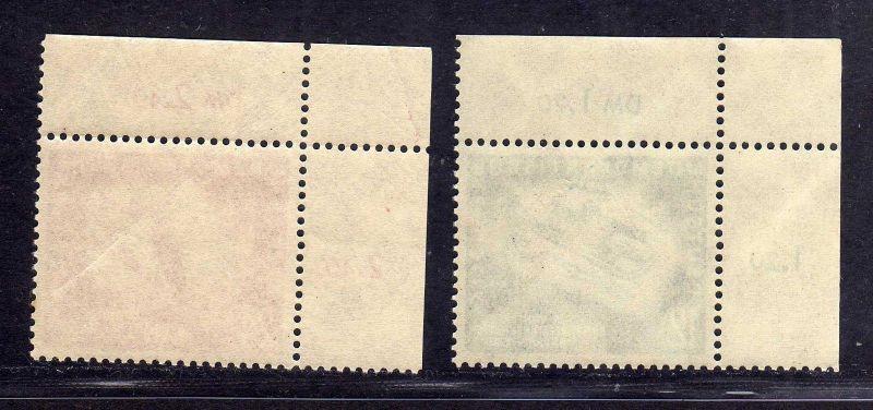 DDR 1951 280 281 je Bogenecke oben links ** Oberhof allseits durchgezähnt 1