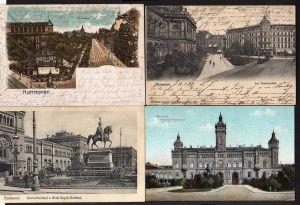 4 Ansichtskarte Hannover Theaterplatz 1906 Technische Hochschule 1911 Georgstraße