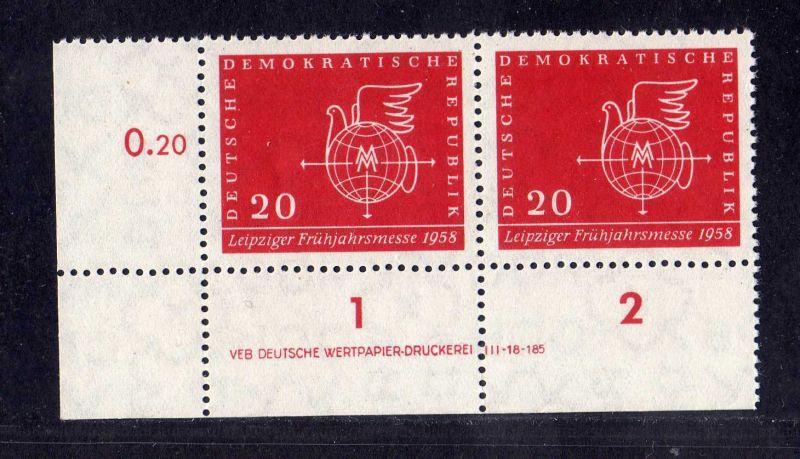 DDR 1958 618 Leipziger Frühjahrsmesse ** DV ungefalten nicht angetrennt