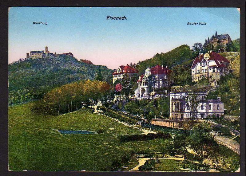 Ansichtskarte Eisenach Reuter Villa Villen am Hang