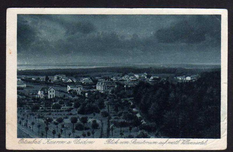 Ansichtskarte Ostseebad Koserow a. Usedom westliches Villenviertel 1925