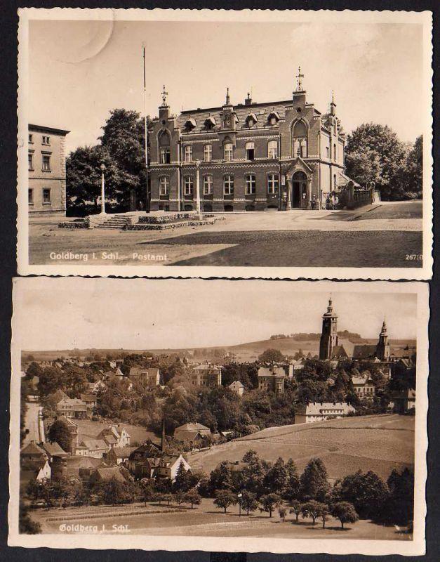 2 Ansichtskarte Goldberg Schlesien 1941 Ortssteil Fotokarte