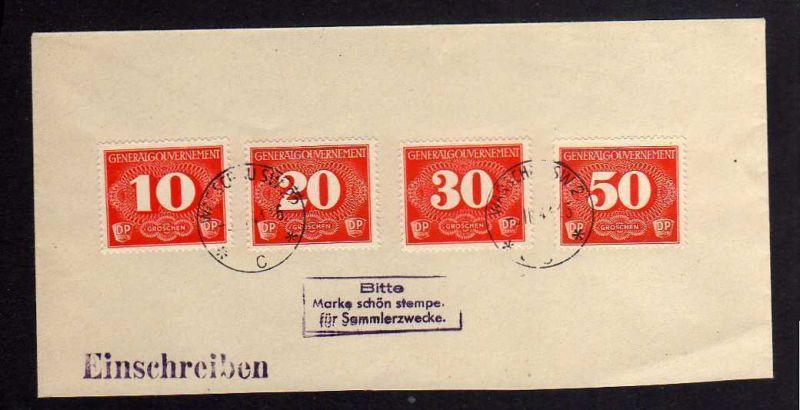 B191 Generalgouvernement Zustellungsmarken Warschau SW 22 c