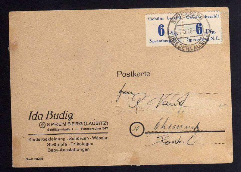 B043 Brief Deutschland Lokalausgabe Spremberg 2x6 Pfennig Bedarf