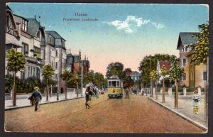 Ansichtskarte Hanau Franffurter Landstr. 1924 Strassenbahn