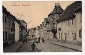 Ansichtskarte Lommatzsch Königstraße 1914