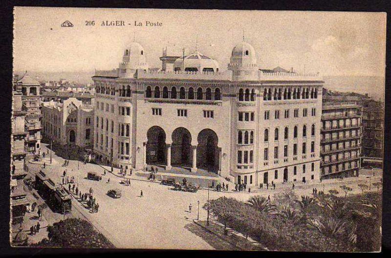 Ansichtskarte Alger Algier La Poste Postamt Post Algerien