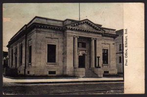 Ansichtskarte Elkhart Ind. 1913 Post Office