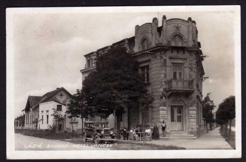 Ansichtskarte Lazne Sadska Hotel Vanicek
