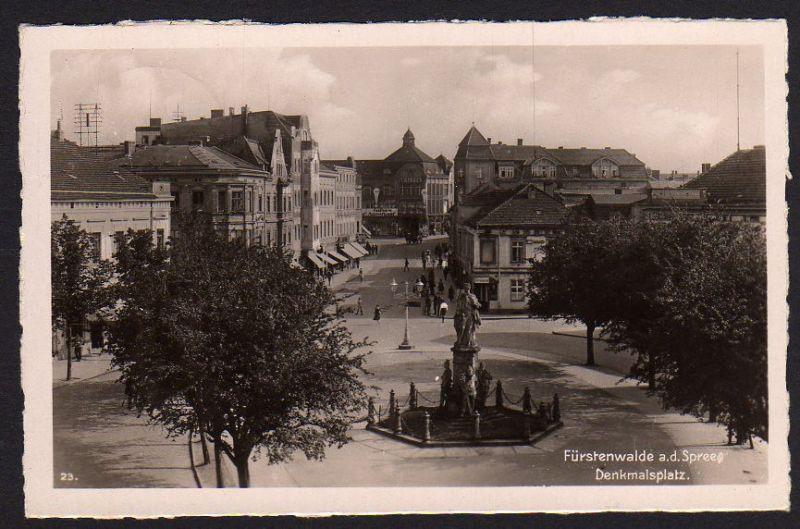 Ansichtskarte Fürstenwalde Spree Denkmalsplatz