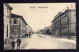 Ansichtskarte Växjö Wexiö Kungsgatan 1920