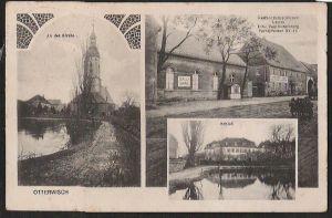 Ansichtskarte Otterwisch Schloß Gasthof zum goldenen Lamm